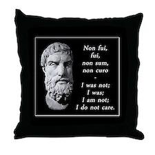 Cute Epicurus Throw Pillow