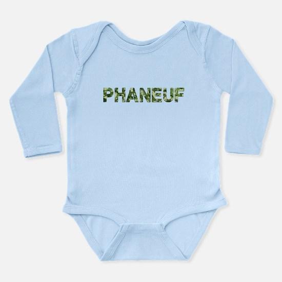 Phaneuf, Vintage Camo, Long Sleeve Infant Bodysuit