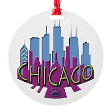 Chicago Skyline Newwave Cool Ornament