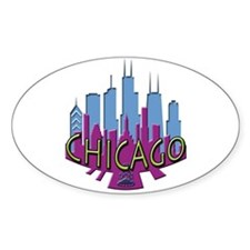 Chicago Skyline Newwave Cool Decal