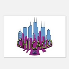 Chicago Skyline Newwave Cool Postcards (Package of