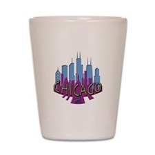 Chicago Skyline Newwave Cool Shot Glass