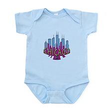 Chicago Skyline Newwave Cool Infant Bodysuit