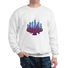 Chicago Skyline Newwave Cool Sweatshirt