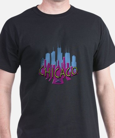 Chicago Skyline Newwave Cool T-Shirt