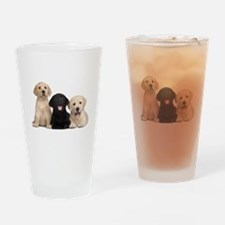 Labrador puppies Drinking Glass