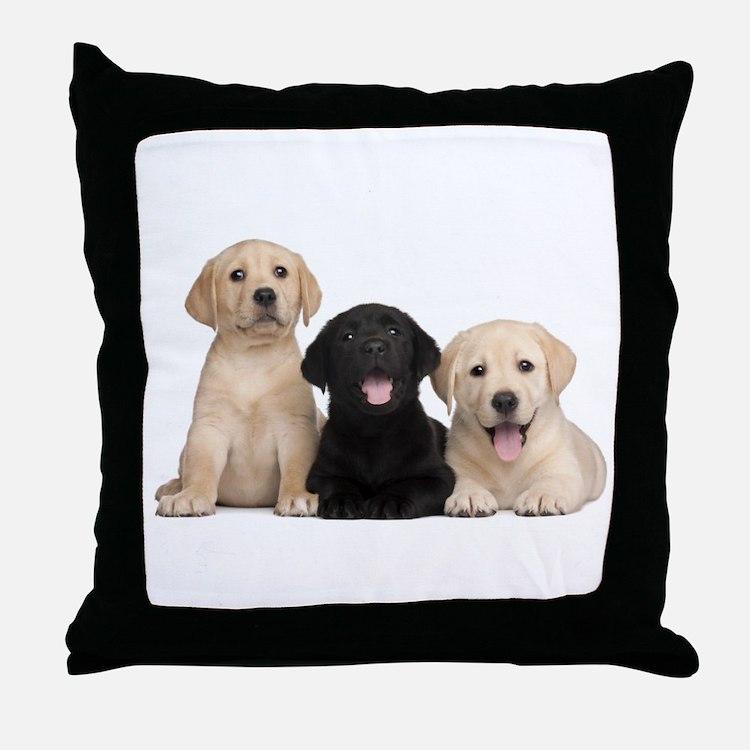 Labrador puppies Throw Pillow