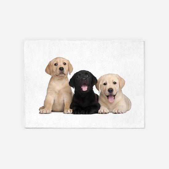 Labrador puppies 5'x7'Area Rug