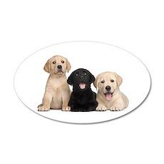 Labrador puppies Wall Decal