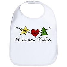 Christmas Wishes Bib