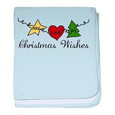 Christmas Wishes baby blanket
