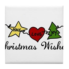 Christmas Wishes Tile Coaster