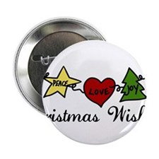 """Christmas Wishes 2.25"""" Button"""