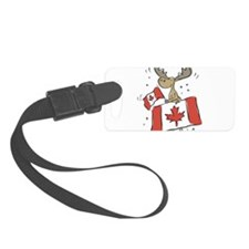 Canada Day Moose Luggage Tag