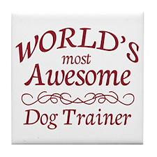 Awesome Dog Trainer Tile Coaster