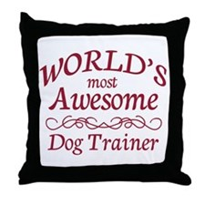 Awesome Dog Trainer Throw Pillow