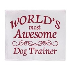 Awesome Dog Trainer Throw Blanket