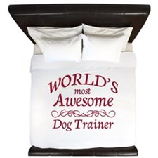 Awesome Dog Trainer King Duvet