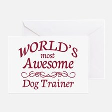 Awesome Dog Trainer Greeting Card