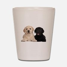 Labrador puppies Shot Glass