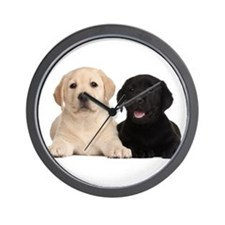 Labrador puppies Wall Clock