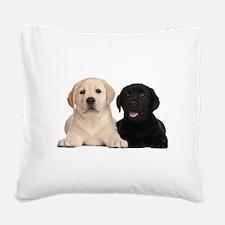 Labrador puppies Square Canvas Pillow
