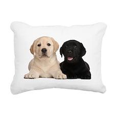 Labrador puppies Rectangular Canvas Pillow