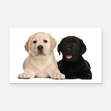 Labrador puppies Rectangle Car Magnet