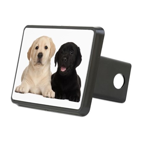Labrador puppies Rectangular Hitch Cover