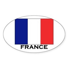 France Flag Stuff Oval Decal