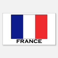 France Flag Stuff Rectangle Decal
