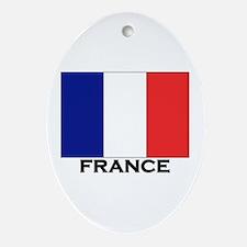 France Flag Stuff Oval Ornament