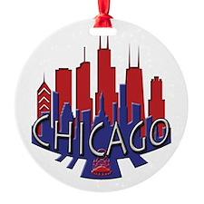 Chicago Skyline Newwave Patriot Ornament