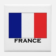 France Flag Stuff Tile Coaster