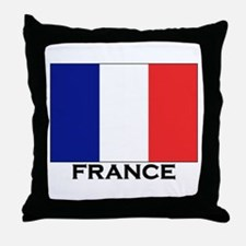 France Flag Stuff Throw Pillow