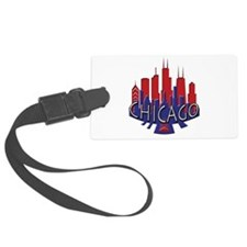 Chicago Skyline Newwave Patriot Luggage Tag