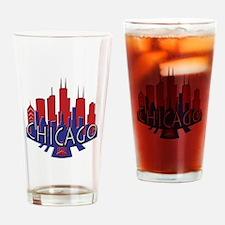 Chicago Skyline Newwave Patriot Drinking Glass