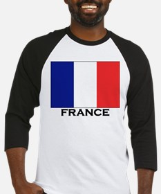 France Flag Stuff Baseball Jersey