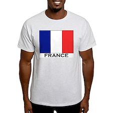 France Flag Stuff Ash Grey T-Shirt