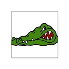 "Gator Head Square Sticker 3"" x 3"""