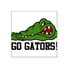 "Go Gator Square Sticker 3"" x 3"""