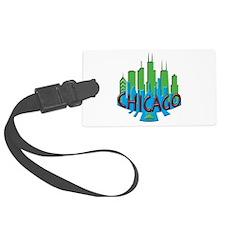 Chicago Skyline Newwave Primary Luggage Tag