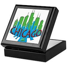 Chicago Skyline Newwave Primary Keepsake Box