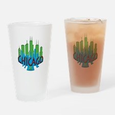 Chicago Skyline Newwave Primary Drinking Glass