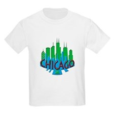 Chicago Skyline Newwave Primary T-Shirt