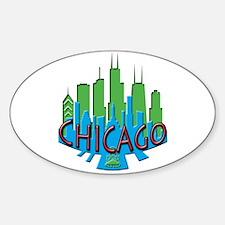 Chicago Skyline Newwave Primary Decal