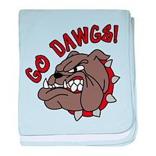 Go Dawgs baby blanket