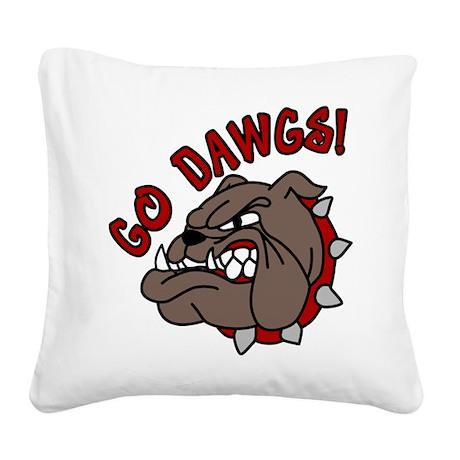 Go Dawgs Square Canvas Pillow