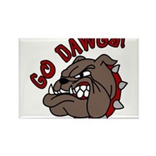Go Dawgs Rectangle Magnet