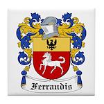 Ferrandis Coat of Arms Tile Coaster